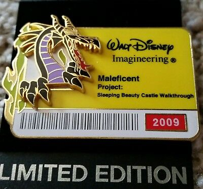 Disney WDI - ID Badge 2009 Pin **MALEFICENT**  Sleeping Beauty  Limited Only 300