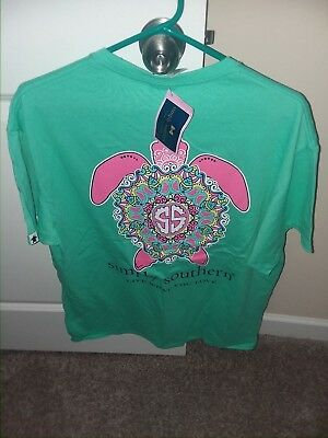 NWT New Simply Southern Short Sleeve T Shirt Womens Watermelon Preppy Turtle L