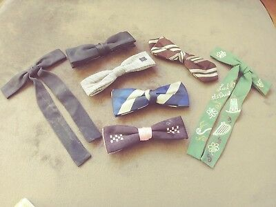 Lot Of 7 Vintage Clip On Ties   Bow Ties St Patrick's Luck O' The Irish Tie Lot