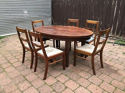 Antique Table And Vintage Chairs