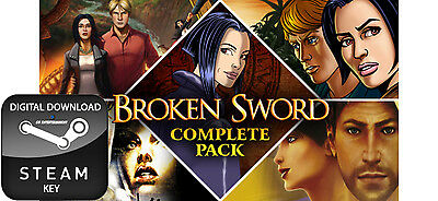 Broken Sword Complete Collection Pack 1-5 Pc Steam Key