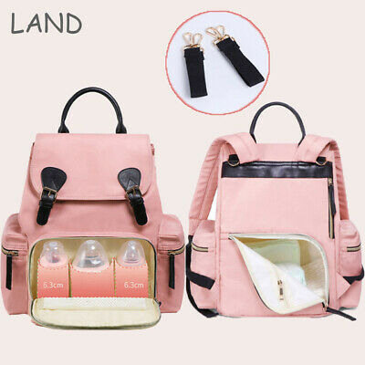 LAND Mummy Bag Baby Nappy Diaper Waterproof Multifunction Changing Backpack US
