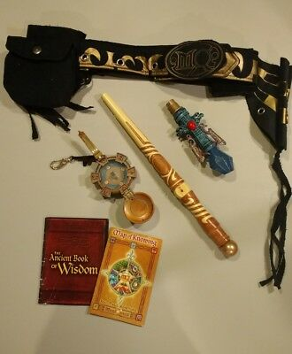 Magiquest Wand With Topper, Compass, Belt Holster