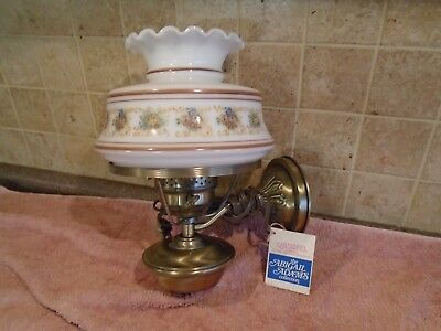 VINTAGE QUOIZEL WALL LAMP BRASS FINISH WALL SCONCE ~ NEW OLD STOCK~Abigail Adams