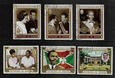 BURUNDI 1970 King & Queen of the Belgians, 4th Anniversary Republic, sets, CTO