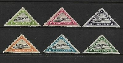 LIBERIA 1936 1st Air Mail Service, triangle, set of 6, CTO