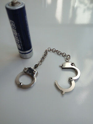 "1/6th Scale Action Figure Toy Model Silver Handcuffs For 12"" Male & Female Body"