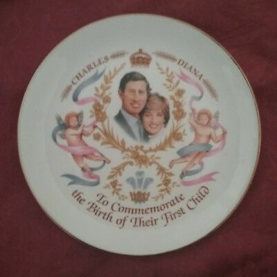 Charles & Diana Commemorative Plate- Birth Of First Child 16cm