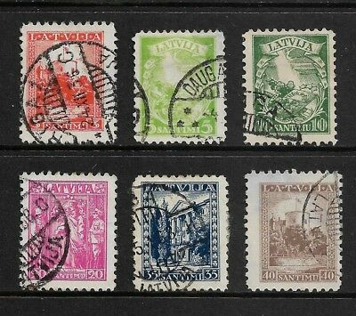 LATVIA 1934 15th Anniversary New Constitution, set of 6, used