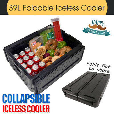 XL Chill Chest Collapsible Iceless Cooler Lightweight Foldable Stackable 39L