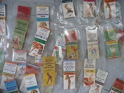 lot of 41 Girly pin ups Girls advertising matchbook covers with strikers