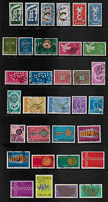ITALY 1956-1973 Europa, incomplete, 33 from 36, used