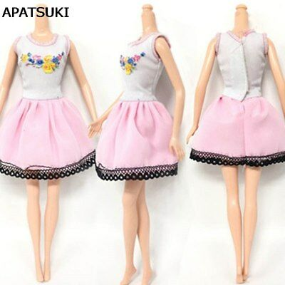 "Causal Wear Fashion Clothes For 11.5"" Dolls Pink Princess Short Dresses Outfits"