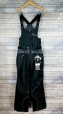 Divas Snow Gear Small Womens Ski Bibs Lace Collection Convertible Black NEW $239