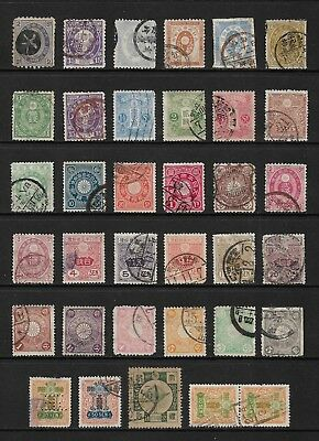 JAPAN mixed early collection, from 1876, incl perfin, used