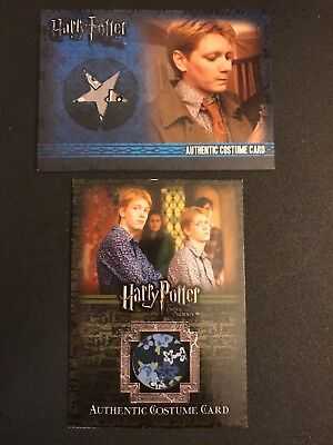 Harry Potter Costume Card Fred George Lot Of 2