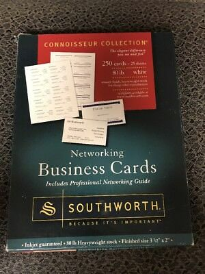 """Networking Business Cards, 80LB, 2""""x3 1/2"""", 250 Cards, White SOUBC14R Category"""