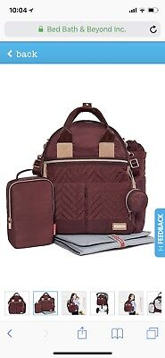 Skip Hop Suite 6-in-1 Baby Diaper Bag Backpack Set w/ Changing Pad Olive NEW