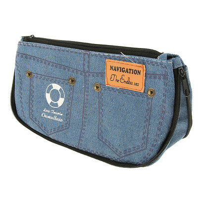 Kreative kurze Jeanshose Form Federtasche Stifthalter Make-up Tasche,