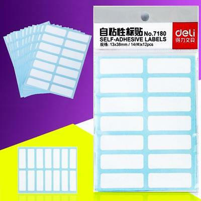 12pcs Self Adhesive Sticky White Label Blank Stickers Note Tags Craft-120*88mm