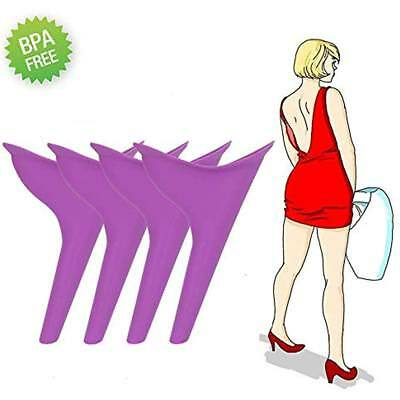 Female Urination Device Silicone Funnel Toilet Women Outdoor Reusable 4Pcs New