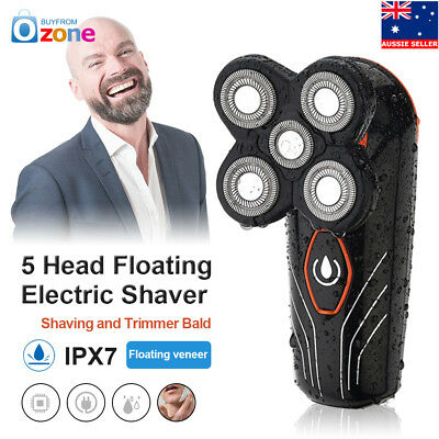 5 Head Floating Mens Electric Shaver Washable Beard Hair Trimmer Bald Razor