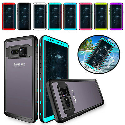 For Samsung Galaxy S9 Plus/Note 8 Waterproof Shockproof Hybrid Rubber Case Cover