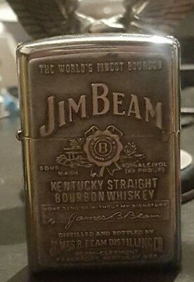 2007 Jim Beam Zippo Label Emblem  Lighter