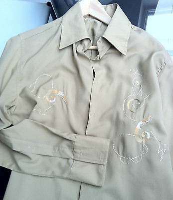 88 Camicie Ricamate Nuove Made In Italy  M-L-Xl Senza Bottoni Color Bronzo Donna