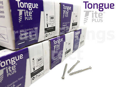 Tongue-Tite Plus Stainless Steel Tongue & Groove Flooring Screws Packs Of 1000