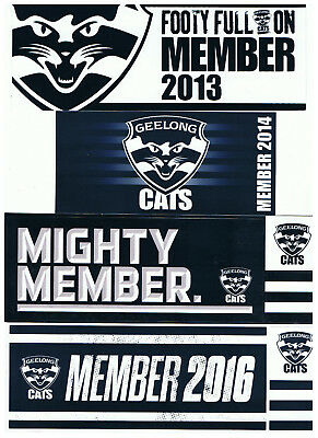 AFL - GEELONG CATS - 4 x MEMBERSHIP STICKERS - AUSTRALIAN FOOTBALL