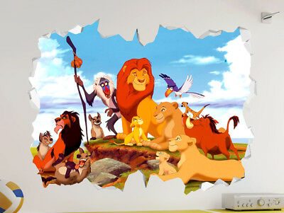 The Lion King 3D Look Wall Vinyl Sticker - Disney Pixar Childrens Bedroom Mural