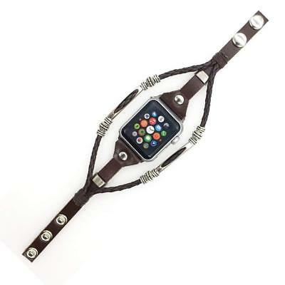 Marval Power Leather Wrist Strap Apple Watch Band for iWatch Series 3 2 1