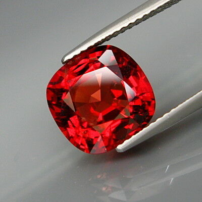 5.25Ct.FREE! Certificate Natural BIG Imperial Red Spinel MaeSai Full Sparkling!
