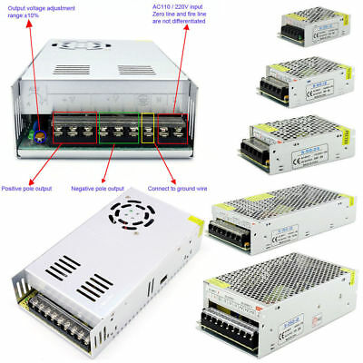 Universal  DC/AC 5V 12V 24V 48V Regulated Switching Power Supply LED LED 3D PSU