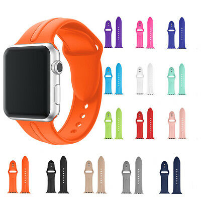 For Apple Watch 42mm 38mm Replacement Silicone Wrist Bracelet Sport Band Strap