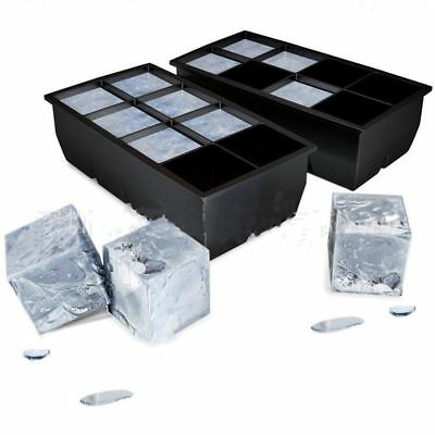 8 Big Cube Giant Jumbo Large Silicone Ice Cube Square Maker Tray Mold Mould