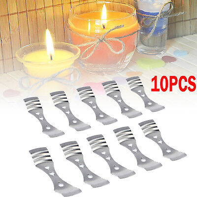 Candle Wick Metal Holder Centering Device Clip Candle Making Supply DIY 10Pcs