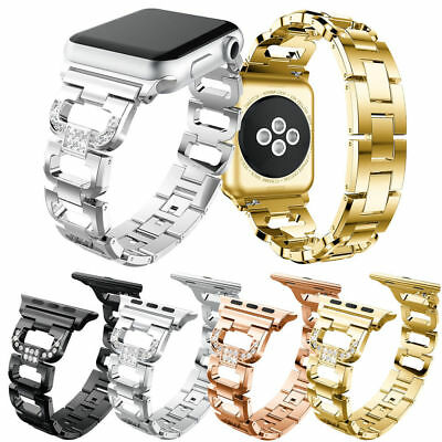 Lady Bling Steel Watch Band Strap for Apple Watch iWatch 38/42mm Series 1 2 3