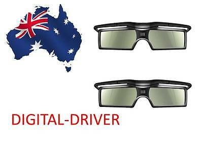 2 Pairs 3D ACTIVE GLASSES FOR SONY 4K HD TV KDL-75W850C KD-55X8500C AU stock