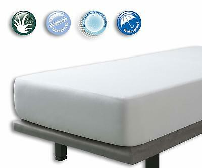 Velfont Terry Towelling Waterproof and Breathable Aloe Vera Mattress Protector