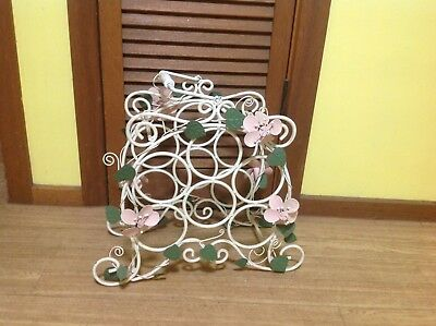 Wrought Iron Bottle Holder With Handle