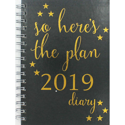 A5 The Plan 2019 Diary - Week To View (Hardback), Stationery, Brand New