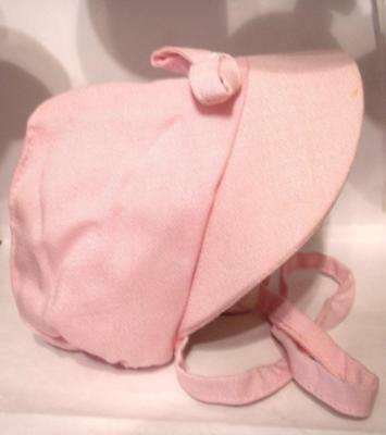 """Girls Easter Bonnet Pink Collectable Vintage Hat Tags from 1960""""s  Child"""