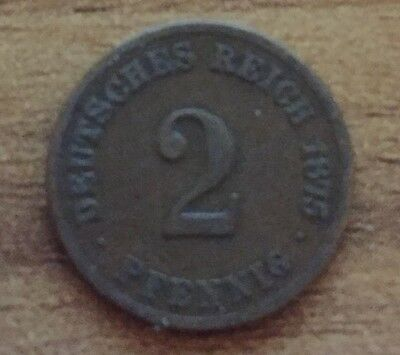1875 2 Pfennig Germany