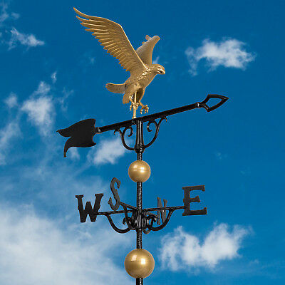 "46"" Full Bodied Eagle Weathervane - Bronze Gold"