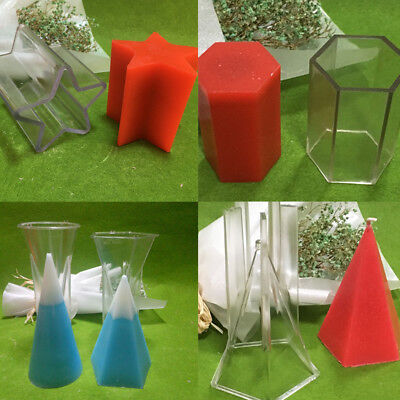 Pyramid Candle Mould Plastic for Making Candle Handcrafts DIY 7.5x7.5x12cm