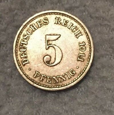 Germany 5 Pfennig 1911