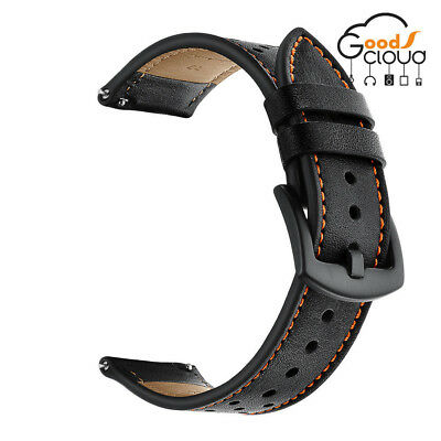 22mm Genuine Leather Strap Belt Watch Band For Samsung Gear S3 Frontier Classic