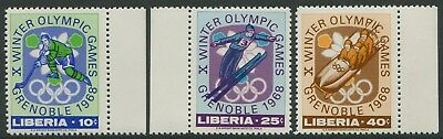 Xth WINTER OLYMPIC GAMES GRENOBLE 1968 - MNH SET OF THREE (BL351)